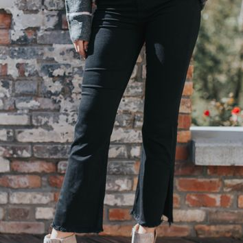 Fawn High Rise Flare Jeans, Black