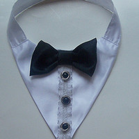 Tuxedo Dog Wedding Collar Dog Collar pet clothes and accessories