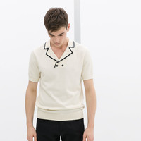 POLO SHIRT WITH TUXEDO COLLAR