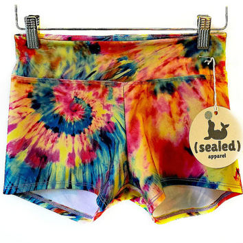 Ladies Bikram Hot Yoga Shorts- Jimmy Print
