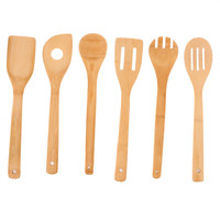 Useful Eco-friendly Bamboo Wood Spatula Spoon Kitchen Cooking Tool Sets