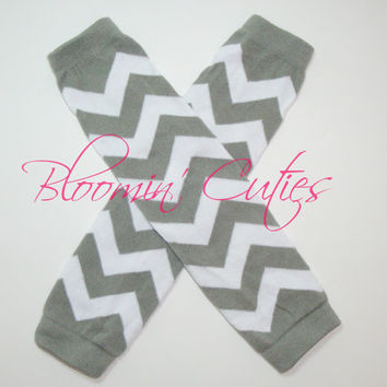 DIY Gray Chevron Legwarmers ~ Supplies ~ Add Your Own Leg Warmer Ruffles and Bows by Bloomin Cuties Boutique