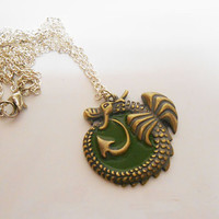 Once Upon A time Fairytale Fantasy Dragon Pendant Necklace