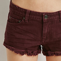 Low-Rise Denim Cutoffs