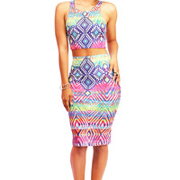Hypnotic Neon Two Piece | Bright Clothes at Pink Ice