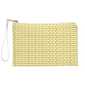 Allyson Johnson Chartreuse Dog Bones Pouch