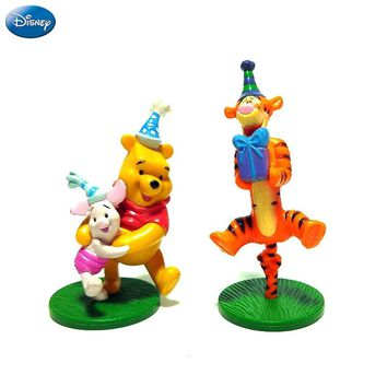 2Pcs Disney Winnie The Pooh Action Figure Tigger Piglet Doll Birthday Present Children Toy Limited Collection New Arrival