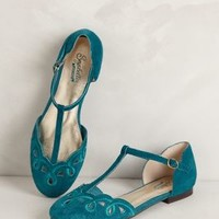 Looped T-Straps by Seychelles Turquoise 9 Wedges