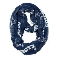 Dallas Cowboys Sheer Infinity Scarf | Womens Gifts | Other | Womens | Cowboys Catalog | Dallas Cowboys Pro Shop