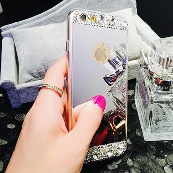 handmade iphone 6 6s plus case white diamond 2