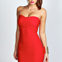 Faye Bandage Bandeau Bodycon Dress