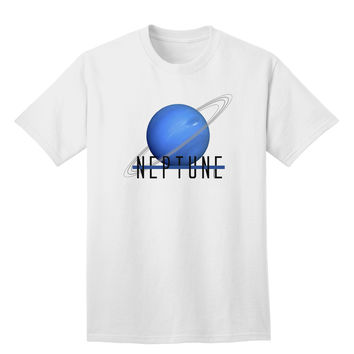 Planet Neptune Text Adult T-Shirt