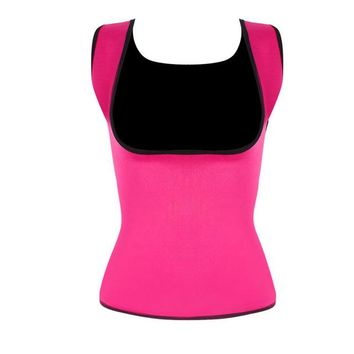 Women's Hot Sweat Slimming Neoprene Shirt Waist Trainer Corset Vest Body Shapers For Weight Loss No Zipper Plus Size