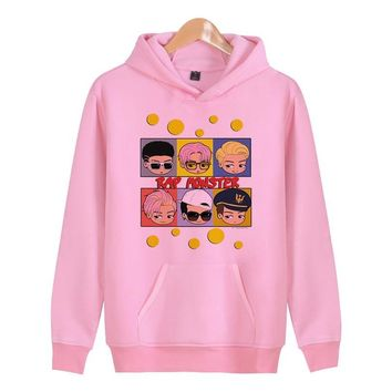 KPOP BTS Bangtan Boys Army  Chibi Rap Monster Design Hot 2018 New Print Sweatshirt women Hoodies  Hoody Pullover womens Tracksuits female Coats AT_89_10