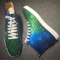 DCCK2 Cl Christian Louboutin Louis Spikes Style #1855 Sneakers Fashion Shoes