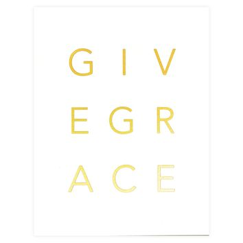 Give Grace Greeting Card