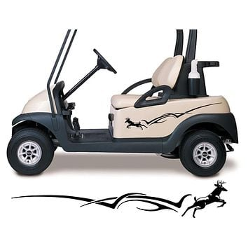 Deer Golf Cart Decals Accessories Side by Side Racing Stickers Graphics GCTT01