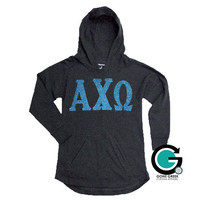 CUSTOM Sideline Hoodie with 6 inch Greek (Sorority) Letters -- Perfect for Spring weather!!