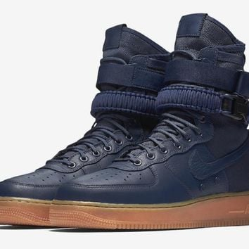 spbest Nike Air Force 1 SF1 High Navy & Gum