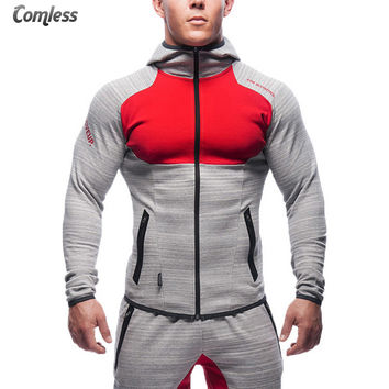 Top Quality New Shark High Elasticity Sportwear Brand-clothing Hoodies Men Embroidery Tracksuit Bodybuilding Fitness Clothes