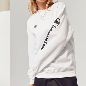 "Women Fashion ""Champion"" Round Neck Top Sweater Pullover Sweatshirt"