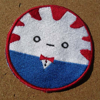 Peppermint Butler Machine Embroidered Iron on OR Sew on Patch