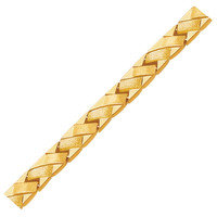14K Yellow Gold Fancy Basket Weave Line Bracelet