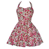 Vintage Style Rose Print Party Dress | Style Icon`s Closet
