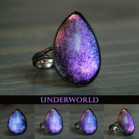 Underworld Color Shifting Teardrop Ring by moonlightmine on Etsy
