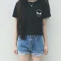 Womens Simple Style Summer T-shirt Gift 93