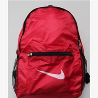 NIKE 2018 spring new fold backpack sports multifunction backpack Red