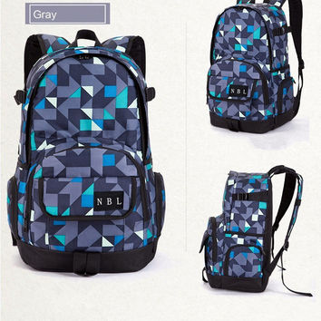 Fashion Casual Male Female Student College Winds  High Capacity Waterproof Breathable Travel Movement Backpack