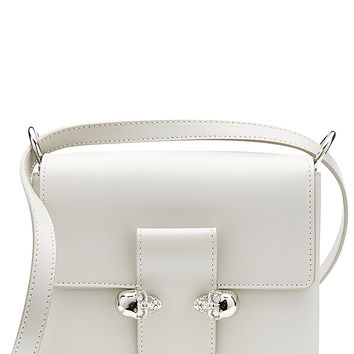 Alexander McQueen - Leather Twin Skull Chain Satchel