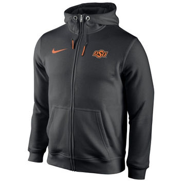 Oklahoma State Cowboys Nike Icon Club Full Zip Hoodie – Black
