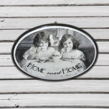 Hanging decoration, Home sweet home sign, wall hanging, wall decoration romantic home, hanging board housewarming gift, victorian inspired