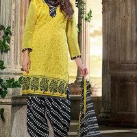 Chanderi Embroidered Suit 002