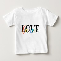 Colorful Love Calligraphy Baby T-Shirt