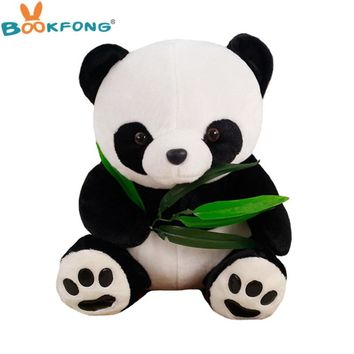 30CM Lovely Holding Bamboo Panda Plush Toys Chinese National Treasure Pandas Dolls Friend Gifts