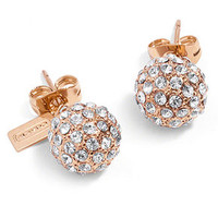 COACH HOLIDAY PAVE STUD EARRINGS
