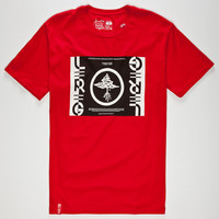 Lrg Competition Cutter Mens T-Shirt Red  In Sizes