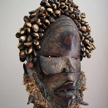 Antique African Dan Tribe Cermonial Mask