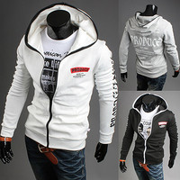 Produce Designer Full Zip Slim Fit Men Hoodie Jacket