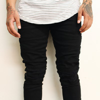 Kareem Distressed Skinny Jeans (Black)