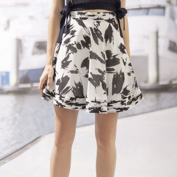 Midnight Floral Skirt Black X-Small