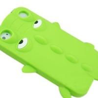 JBG Green iphone 5 New 3D Cartoon Crocodile Animal Style Silicone Soft Case Protective Cover Skin for Apple iphone 5 5G 5th