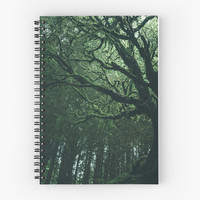 'Spooky Tree' Spiral Notebook by Errne