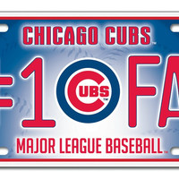 Chicago Cubs License Plate - #1 Fan