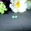 PIF - Swarovski Crystal Cartilage earrings stud style (Hypoallergenic base) - Color Pacific Green Opal