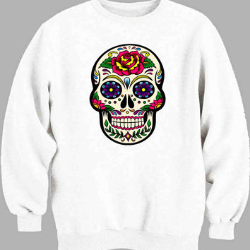 Sugar Skull mexican Sweater for Mens Sweater and Womens Sweater ***