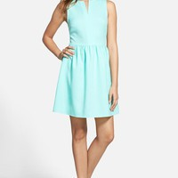 Junior Women's Everly 'Rowan' V-Neck Skater Dress,